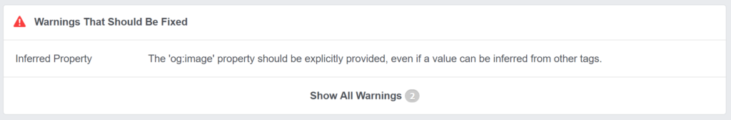 Facebook doesn't recognize og:image tag